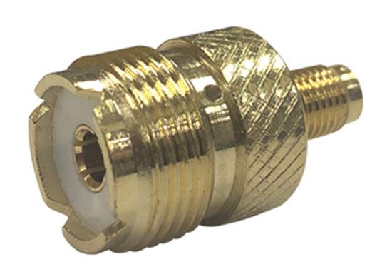 מעביר משקע SMA לשקע UHF זהב