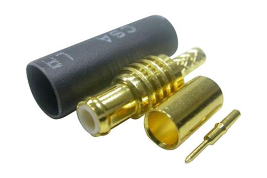 תקע לחיצה RG-174 - MCX זהב