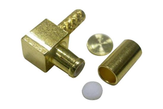 שקע לחיצה בזוית RG-179 - MCX זהב