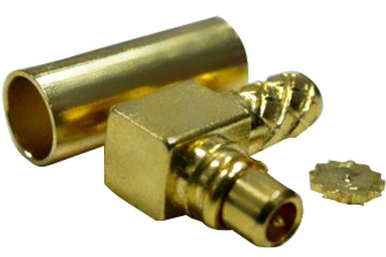 תקע לחיצה בזוית RG-174 - MMCX זהב
