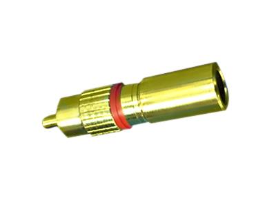 תקע בהידוק RG-59/RG-6 - RCA
