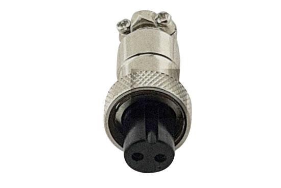 שקע מיני מיקרופון 2P עם הברגה לכבל