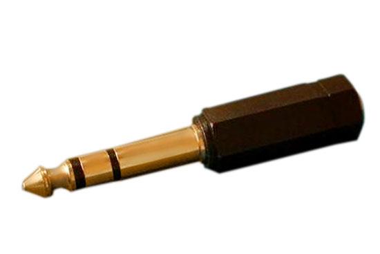 מעביר משקע 3.5 סטריאו לתקע PL סטריאו זהב