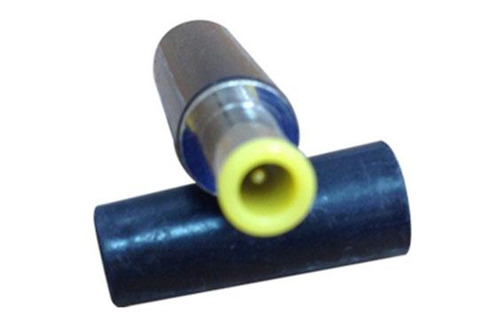 """תקע DC עם פין קטן צהוב (חיצוני 5 מ""""מ)"""