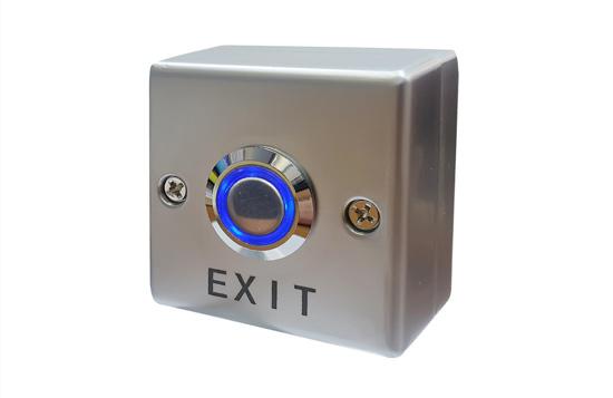 לחצן אנטי ונדל מרובע על טיח עם קופסא אחורית כולל תאורה N.O