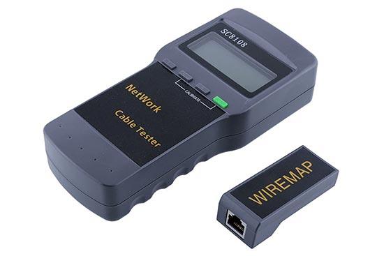 מכשיר בדיקה מקצועי LCD לכבל רשת + קואקס + טלפון