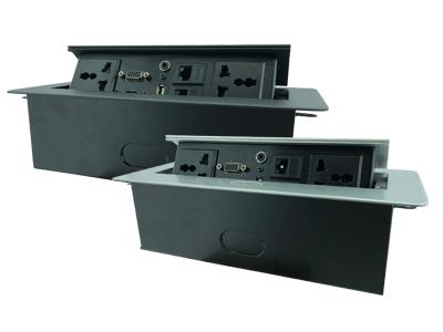קופסת מולטימדיה  220V / VGA / HDMI /  USB / RJ-45
