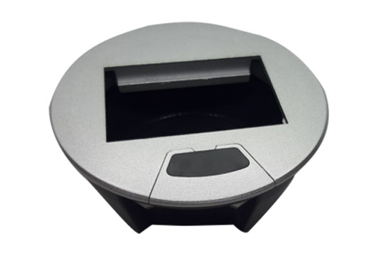 קופסת מולטימדיה עגולה לשולחן POP-UP