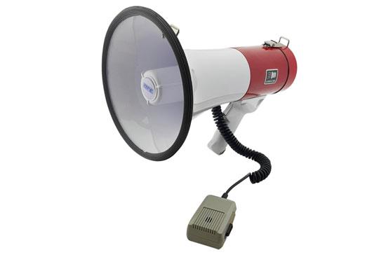 מגפון COPA אדום בהספק 25W כולל מיקרופון נשלף