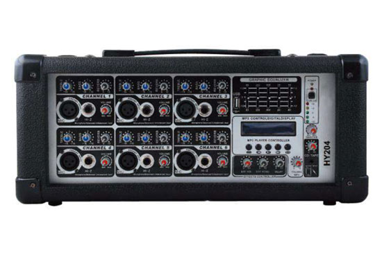 מגבר מיקסר HY206M-MP3