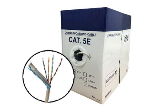 כבל תקשורת STP CAT-5E קשיח נחושת מלא 305 מטר