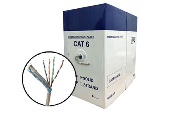 כבל תקשורת UTP CAT6 קשיח 100/305 מ׳