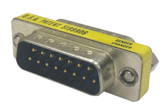 מעביר תקע D15 לתקע D15 מתכת קצק 2 שורות