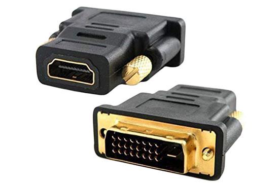 מעביר שקע HDMI לתקע 24+1 DVI זהב