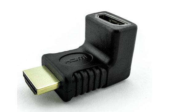 מעביר שקע HDMI לתקע HDMI זוית הפוכה