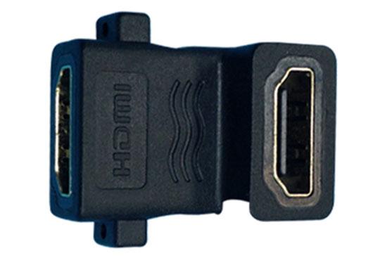 מעביר שקע HDMI לשקע HDMI זוית עם ברגים לפנל
