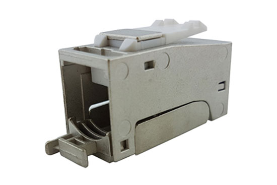 שקע RJ-45 קצר מסוכך Keystone CAT-6A/7