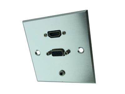 פנל אלומיניום למולטימידה HDMI/VGA/3.5