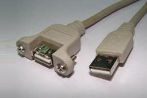כבל מאריך USB באורך 0.2 מ´ A-A לשאסי