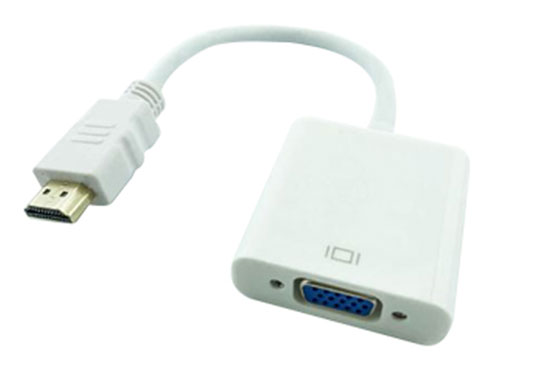 ממיר HDMI ל VGA + אודיו פאסיבי כבל קצר 20CN