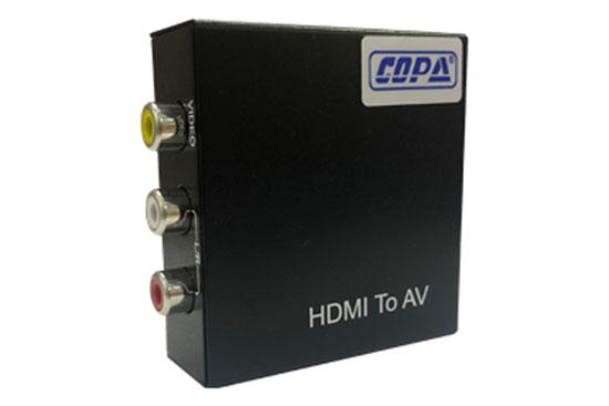 ממיר HDMI לאודיו וידאו מתכתי כולל ספק