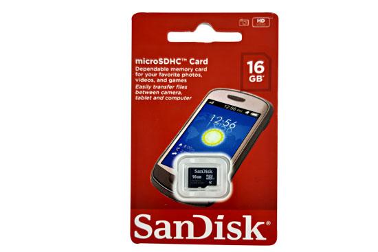 כרטיס מיקרו MICRO-SD 16GB SanDisk
